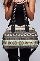 Embroidered Hobo Bag