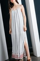 Cream Striped Maxi
