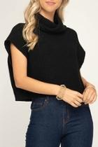 Cropped Cowl Sweater