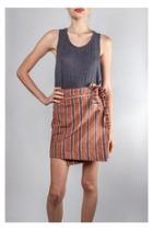 Striped Wrap Mini-skirt
