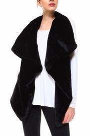 Black Faux-fur Vest