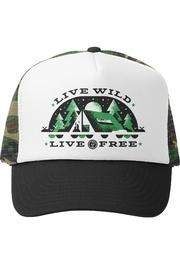 Live Wild Live Free Trucker Hat