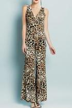 Cheetah V-neck Jumpsuit