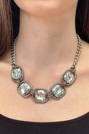 Square Crystal Necklace