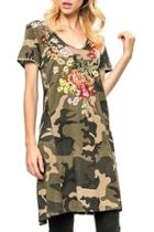 Embroidered Camoflauge Dres