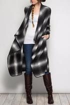 Plaid Midi Coat
