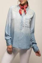 Embriodered Denim Shirt