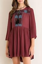 Red-bean Embroidered Tunic