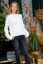 Dot Sweater Cream