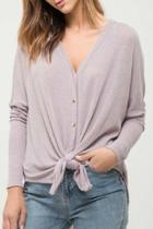Button-down Knit Top