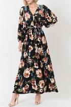 Velvet Floral Maxi Dress