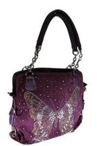 Rhinestone Butterfly Handbag