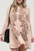 Mock-neck Sleeveless Dress