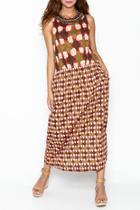 Multi Patterned Maxi Dress