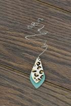 Leather-charm Sterling-silver Chain-necklace