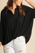 Collared Twist Top