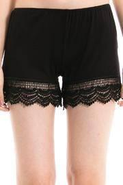 Solid Crotchet Shorts