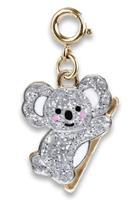 Gold Glitter Koala Charm
