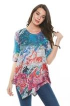Colorful Abstract Top