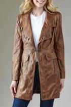 Long Pleather Jacket