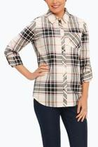 Plaid Herringbone Shirt
