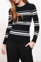 Stripe Ribbed Sweater Top