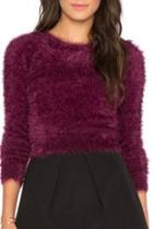 Furry Cropped Sweater