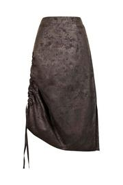 Foil Gathered Skirt
