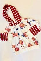 Floral Striped Hoodie