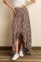 Ruffle Wrap Maxi-skirt