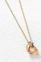 Rose-gold Double-heart Necklace
