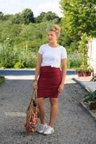 Rouched Pencil Skirt