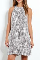 Mini Zebra Print Crepe Trapeze Dress