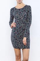 Mini Graphic Print Jersey Dress