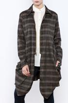 Grey Plaid Zip Jacket