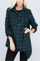 Longsleeve Plaid Cardigan