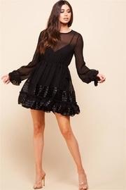 Long-sleeve Black Dress