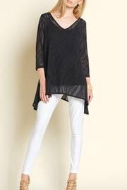 Vneck Eyelet Tunic Top