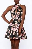 Silky Floral Sleeveless Dress
