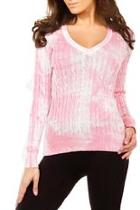 Cableknit V-neck Sweater