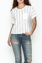 Striped Front Pocket Tee