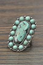 Natural Turquoise Stone-ring