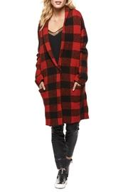 Buffalo Plaid Sweater Coat