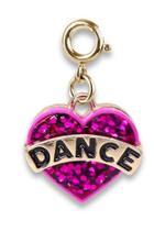 Gold Glitter Dance Charm