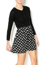 Polka Dot Knit Dress