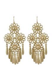 Gold Flower Dangling Earrings