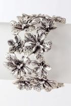 Metal Flower Wrap-bracelet