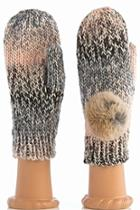 Fur Ombre Mittens