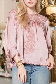 Embroidery Satin Top