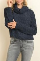 Soft Chenille Turtleneck Sweater